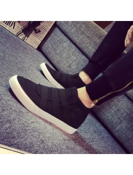 [PRE-ORDER] BLACK Sneaker Pure Color Canvas Man Men Shoes - HITAM Sniker Kanvas Tulen Kasut Lelaki