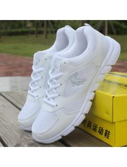 [PRE-ORDER] WHITE Sneaker Running Sport Man Men Shoes - PUTIH Jogging Berlari Bersukan Kasut Lelaki