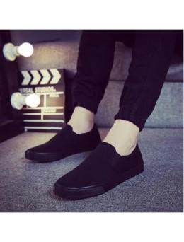 [PRE-ORDER] Men Working Simple Plain Canvas Shoes