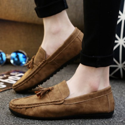 [READY STOCK] Men Casual Tassel Camp Mocs Loafers Shoes