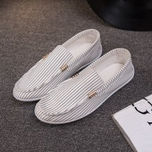 [PRE-ORDER] Men Casual Stripes Camp Mocs Loafers Canvas Shoes