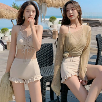 Women Clothing new cover belly slim Three-piece Swimsuit