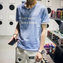 [PRE-ORDER] Men Round Neck Letters Short Sleeve T-Shirt