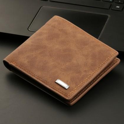 Men Short Multi-card Student Retro Wallet