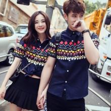 [PRE-ORDER] Men Couple Harajuku Style Short Sleeve T Shirts
