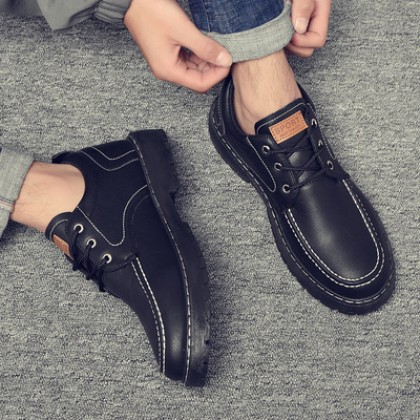 Men Breathable Casual Lace-up Formal Working Shoes