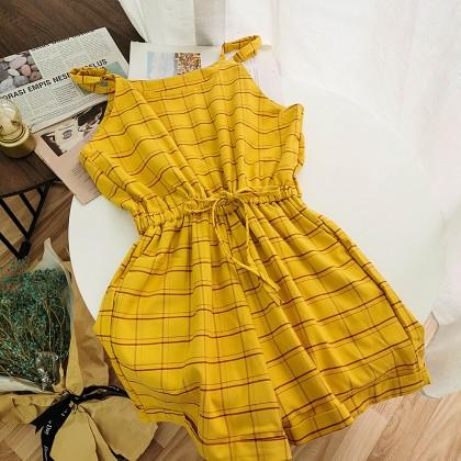 Women Clothing Summer Casual Adjustable Sling High Waist Jumpsuit