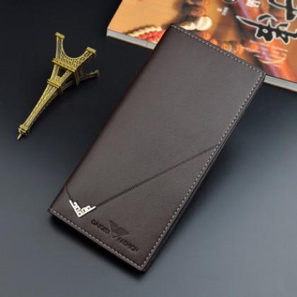 Men Multi-card Large Capacity Three-fold Soft Wallet