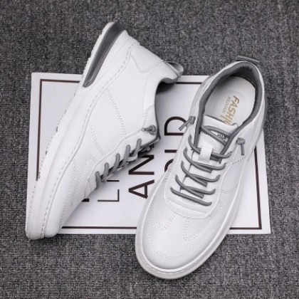 Men Casual Lace-up All-match Student Leather Shoes