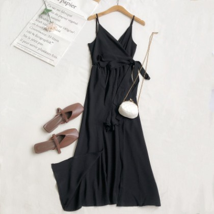 Women Clothing All-match V-neck Suspender Jumpsuit