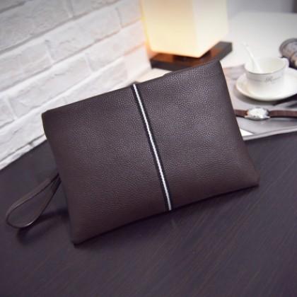 Men Business Envelope Soft PU Handbag