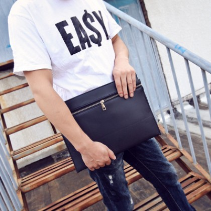 Men Business Zipped A4 Envelope IPAD Handbag