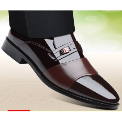 Men Casual Glossy Working Trendy Leather Shoes