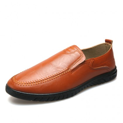 Men Casual Soft Sole Breathable Microfiber Leather Shoes