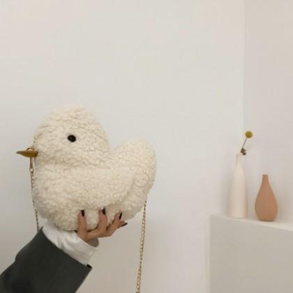 Women New Duckling Plush Cute Shoulder Bag
