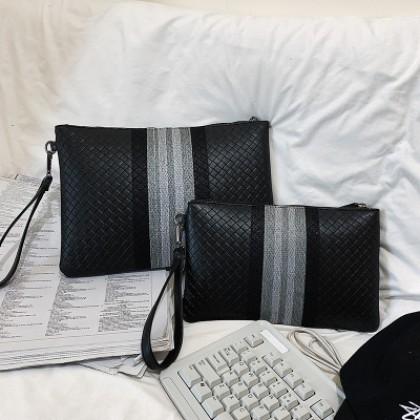 Men Soft Leather Clutch Casual Korean Style Clutch Bag