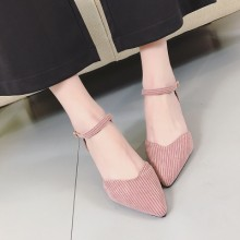 [PRE-ORDER] Women Korean Sweet Cute Buckle High Heels