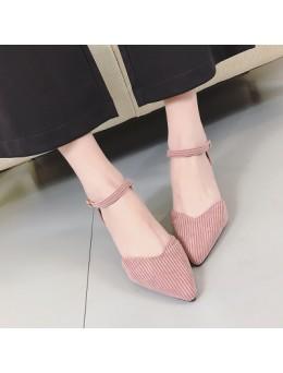[PRE-ORDER] Women Korean Sweet Cute Buckle High Heels
