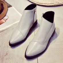 [READY STOCK] Women Simple Side Zipped Martin Boots