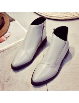 [PRE-ORDER] Women Simple Side Zipped Martin Boots