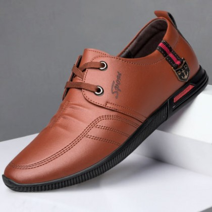 Men Leather Casual Business Trendy Shoes
