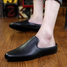 [PRE-ORDER] Men Casual PU Simple Pure Color Leather Shoes