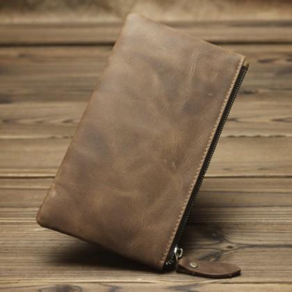 Men Minimalist Japanese Style Long Wallet