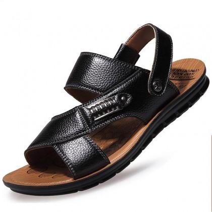 Men Wear-resistant New Summer Soft-soled Non-slip Leather Sandals