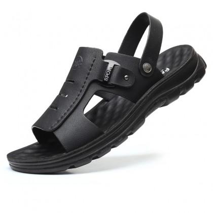 Men New Soft-soled Non-slip Leather Beach Sandals