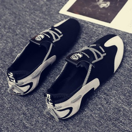 Men Lace-up Social Guy One-step Lazy Casual Shoes