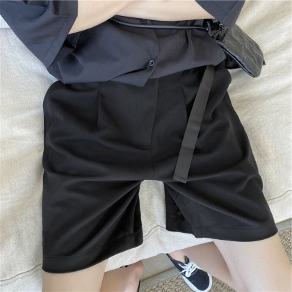 Men Clothing Trendy Summer Thin Straight Loose Five-point Pants