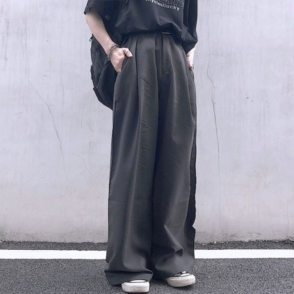 Men Clothing Japanese Retro Loose Wide-leg Thin Casual Trousers