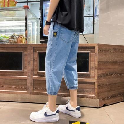 Men Clothing Seven-point Casual Summer Denim Pants