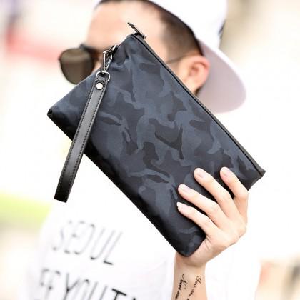 Men Camouflage Waterproof Casual Street Clutch Bag