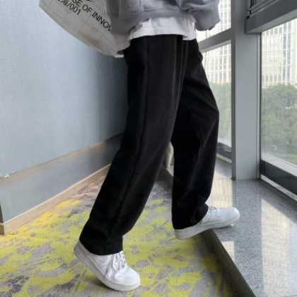 Men Clothing Casual Loose Straight Pants
