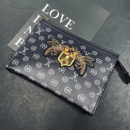 Men Retro Embroidery Patterns Envelope Bag