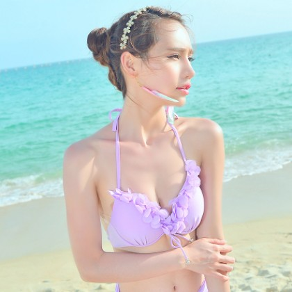 [READY STOCK] Women Three Pieces Bikini Swimsuit Set