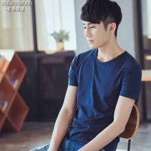 [PRE-ORDER] Men Simple Basic Color Short Sleeve T Shirts
