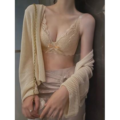 Women Clothing No Steel Ring Anti-sagging Adjustable Bra Underwear Set