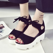 [PRE-ORDER] Women Ribbon Scrub Fish Mouth Sandals