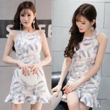 [PRE-ORDER] Women Geometric Sleeveless Fish Tail Dress