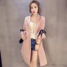 [PRE-ORDER] Women Ribbon 3/4 Sleeve Long Jacket Cardigan