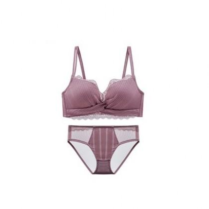 Women Clothing Anti-sagging Sexy Beauty Back Bra Underwear Set