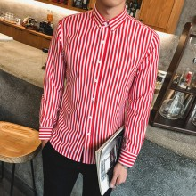 [PRE-ORDER] Men Straight Stripes Long Sleeve Shirts