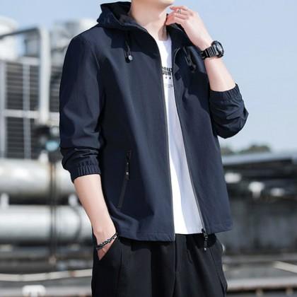Men Clothing Korean Style Trendy Casual Jacket
