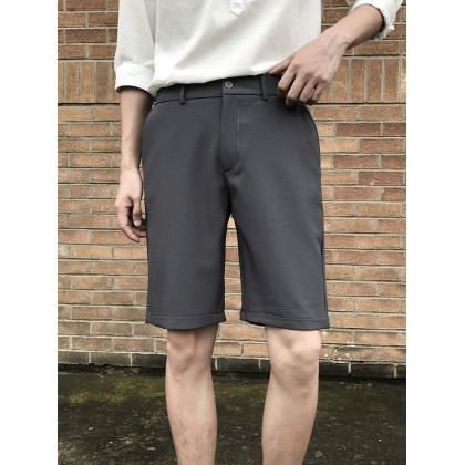 Men Clothing Casual Straight Five-pint Short Casual Pants