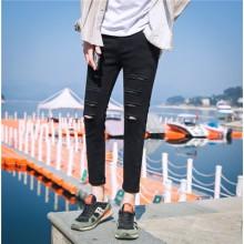 [PRE-ORDER] Men Korean Fashion Ripped Jeans