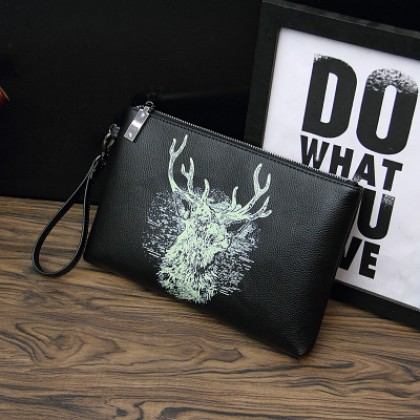 Men Cool Printed Graphic Handbag