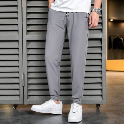 Men Clothing Summer Breathable  Casual Sports Long Pants