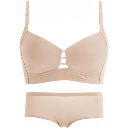 Women Clothing Ultra-thin Summer Cool No Steel Ring Bra Underwear Set